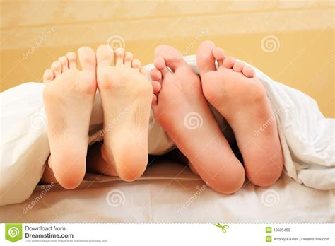 feet in bed feet in a bed stock photo image 10625460