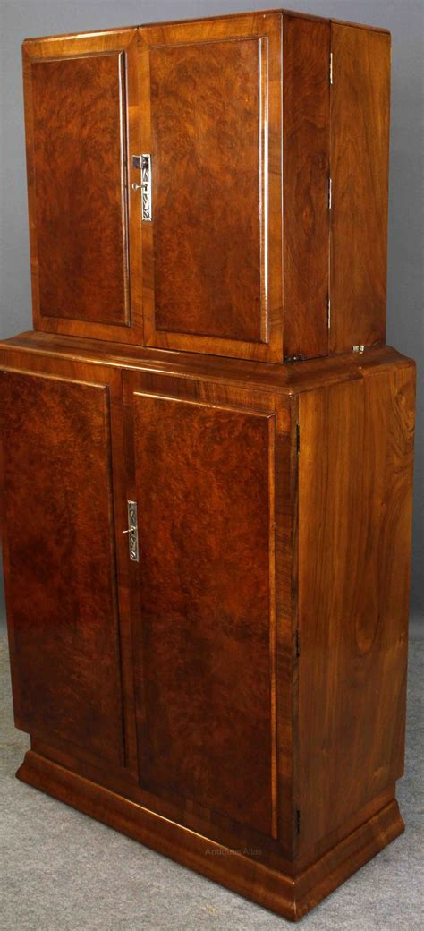 art deco drinks art deco walnut 4 door cocktail antiques atlas