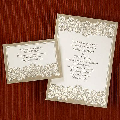Printed Wedding Invitations Carlson by The World S Catalog Of Ideas
