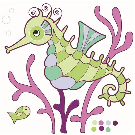 seahorse clip drawings of seahorses clipart best