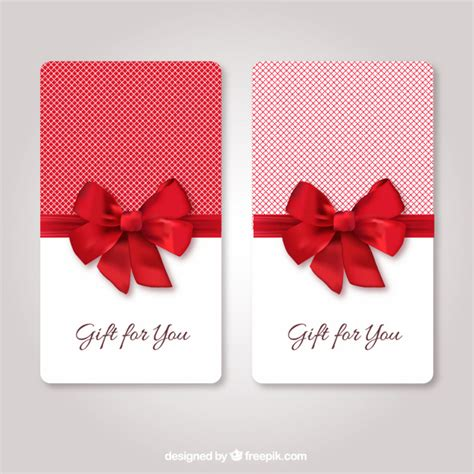Free Gift Cards - gift cards template vector free download