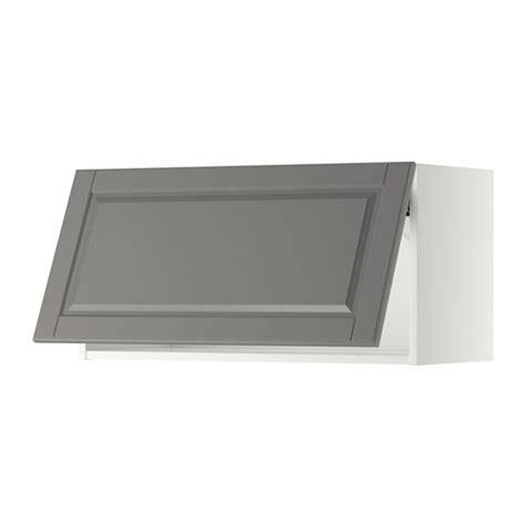 wandschrank horizontal mit vitrinentür metod wandschrank horizontal wei 223 bodbyn grau 80x40 cm