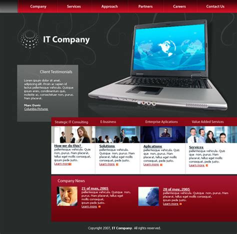 templates for technology website laptop web template 3025 computers technology