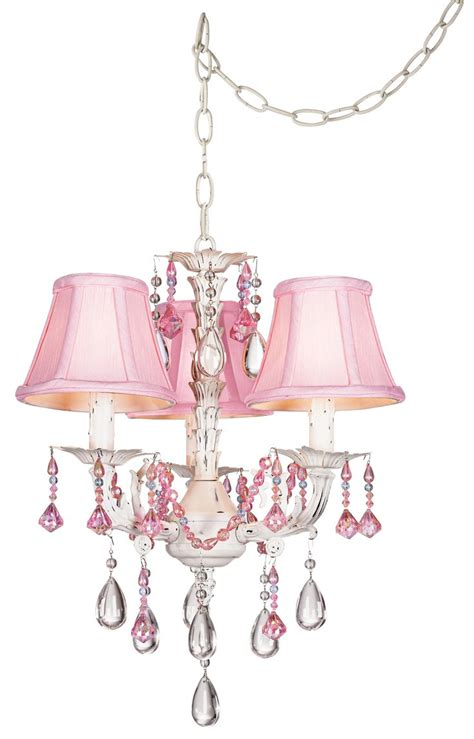 Swag Chandelier Pretty In Pink Swag Style In Mini Chandelier