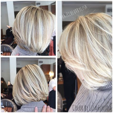 grey blending hair in la verne ca blonde dimensional highlights w tint to blend grey hair