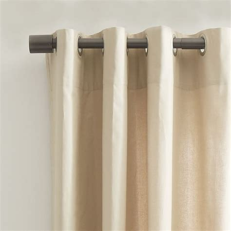 canvas grommet curtains cotton canvas grommet curtain light flax west elm