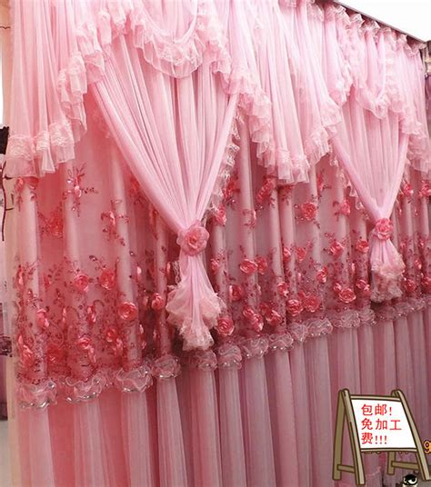 aliexpress com buy princess white pink curtain lace aliexpress com buy high quality lace curtain princess