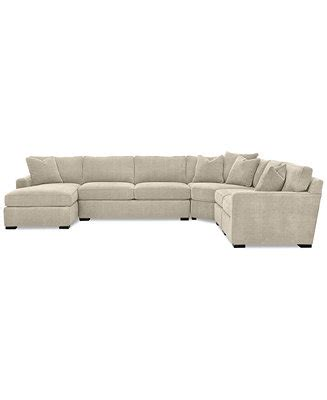 radley 5 fabric chaise sectional sofa furniture radley 5 fabric chaise sectional sofa