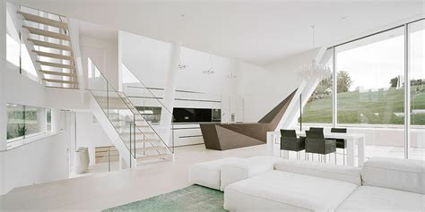 Futuristic Homes Interior Freundorf Residence Futuristic All White House Near