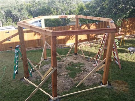 hexagon fire pit swing firepit swing structure