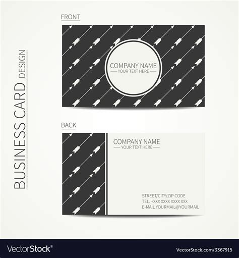 vintage multi photo card template vintage creative simple business card template vector image