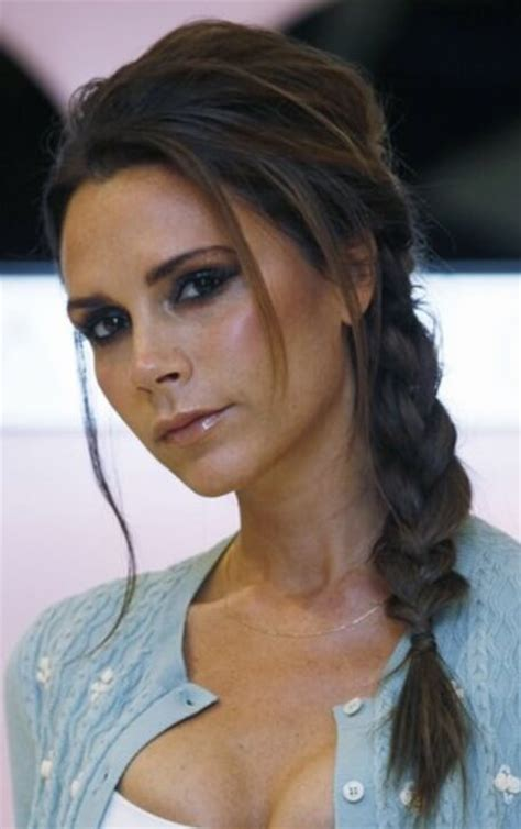 hair desings with plated hair celebrity of the week victoria beckham hair extensions