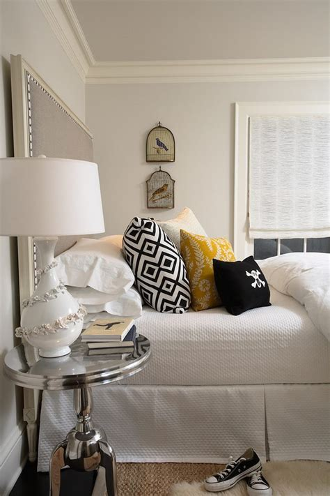 lovely grey yellow bedroom home renovations  mirror