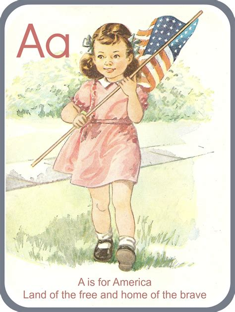 jennuine by rook no 17 a is for america vintage graphic