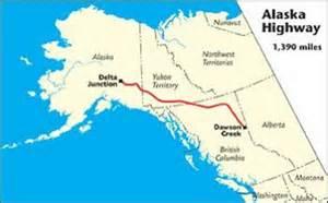 alaska canada highway map 4000