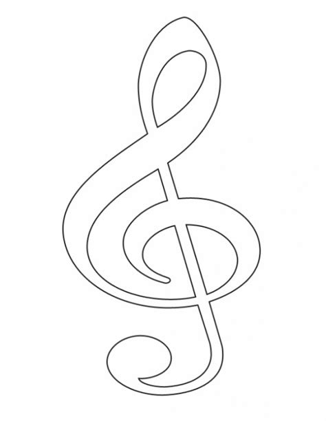 Treble Clef Coloring Page Free Clip Art Music Symbols Treble Clef Hubpages