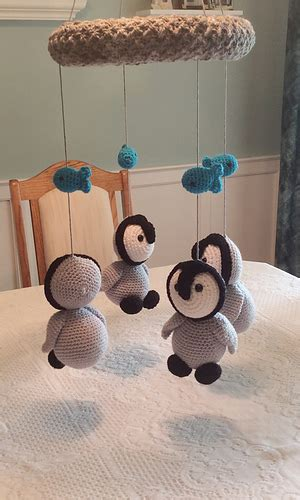 mobile pattern library ravelry baby penguins mobile pattern by lisa kingsley
