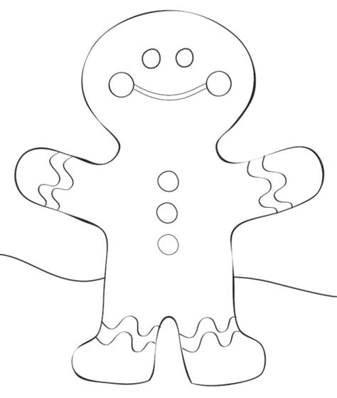 gingerbread man blank coloring page gingerbread man template printable free new calendar