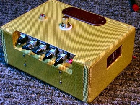 converted  mini twin stomp box guitars guitar