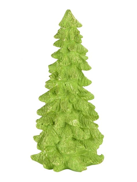 green ceramic christmas tree ornament 21cm ornaments
