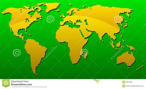 yellow map europe map yellow green vector cartoondealer