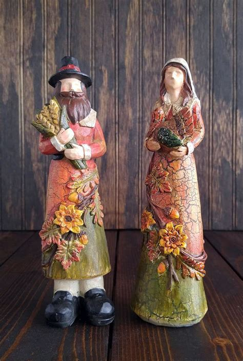 pilgrim figurines thanksgiving decor hanna s handiworks