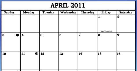 April 2011 Calendar The Minestrone April 2011 Calendar