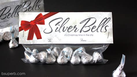 Halloween Crafts Treats - christmas treat topper silver bells b superb