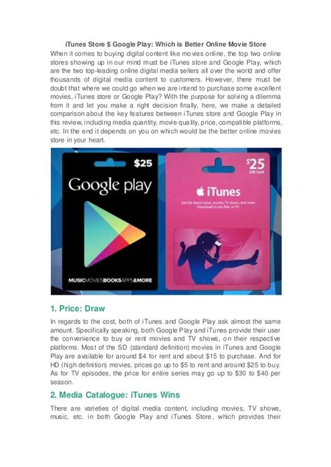 Play Store Vs Itunes Itunes Store Vs Play Where Should You Buy