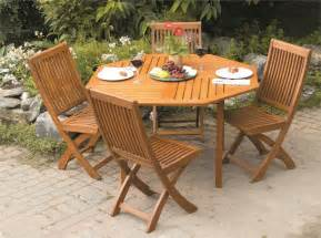 Deck Furniture Sets by Outdoor Furniture Wood Patio Set Folding Garden Furniture