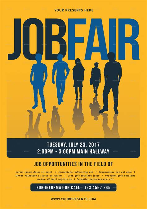 free templates for job flyers job fair flyer by lilynthesweetpea graphicriver