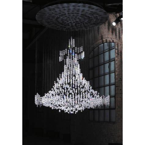 lustre contemporain design lustre montgolfi 232 re sans ch 226 ssis en cristal de swarovski