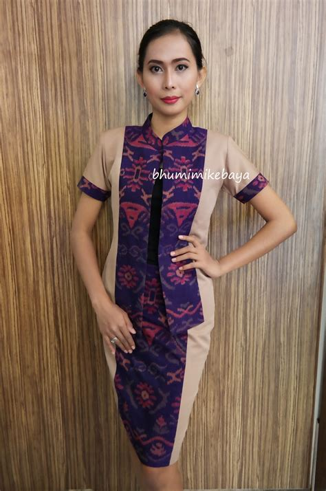 Dress Tenun Ntt Kombinasi inspirasi model dress endek bhumimikebaya