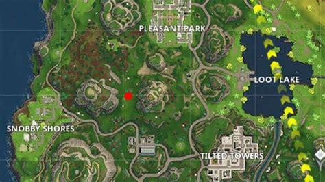 fortnite treasure map fortnite snobby shores treasure map location and reward