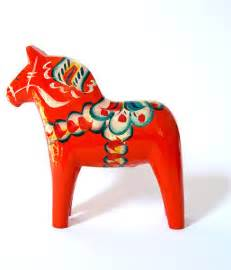 Dala horse by mid mod mom traditional decorative accents by etsy