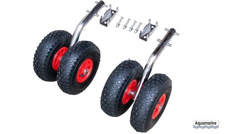 aluminum boat launching wheels double launching wheels stainless quick release aquamarine