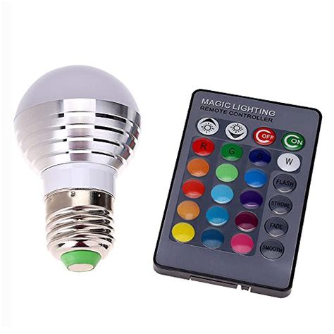 Led Color Changing Light Bulb With Wireless Remote 2010 supernight 3w rgb led color changing light bulb l with import it all