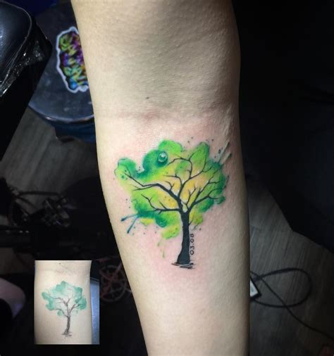 watercolor tree tattoo designs watercolor tree venice designs