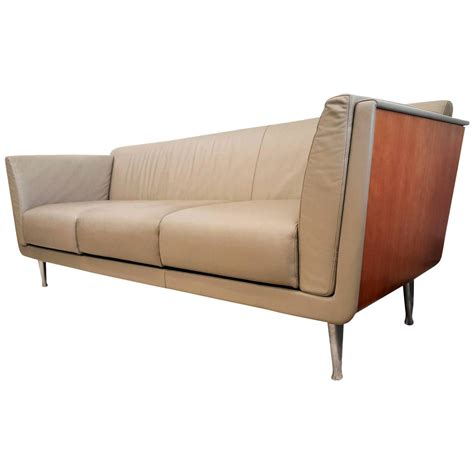 cherry sofa mark goetz for herman miller cherry wrapped tan leather