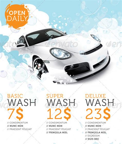 car wash template car wash flyers 40 free psd eps indesign format
