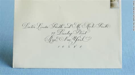 Formal Wedding Invitation Addressing