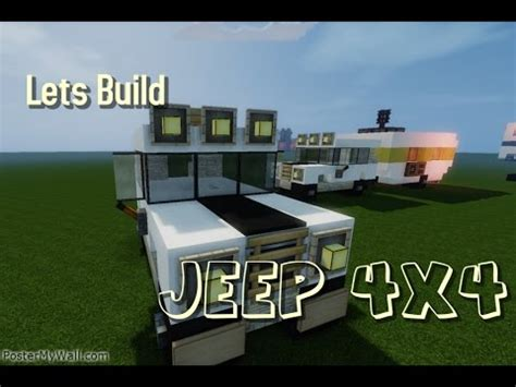 minecraft jeep wrangler minecraft lets build vehicle jeep 4x4