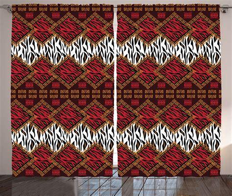 animal pattern net curtains african style wild animal skin stripes in diamond pattern