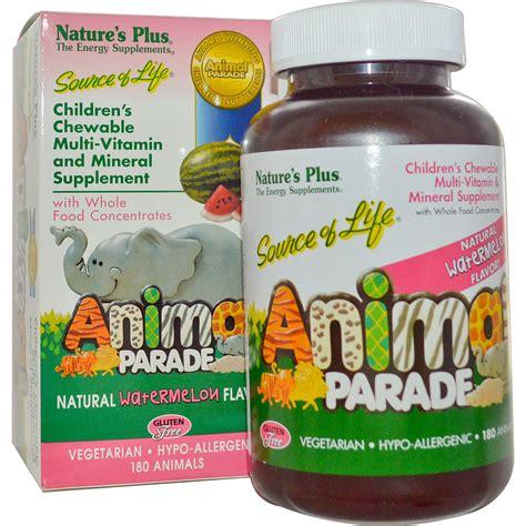 Vitamin Anak Animal Parade nature s plus source of animal parade children s chewable watermelon flavor