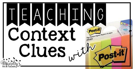 picture books to teach context clues bright idea using post it note to teach context clues