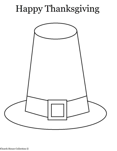 How To Make A Pilgrim Hat Out Of Paper - thanksgiving pilgrim hat coloring page