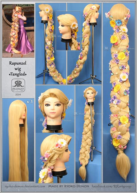 rapunzel tutorial wig rapunzel wig by ryoko demon on deviantart