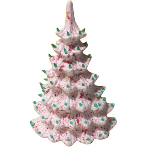 wall hugging ceramic space saver christmas tree from