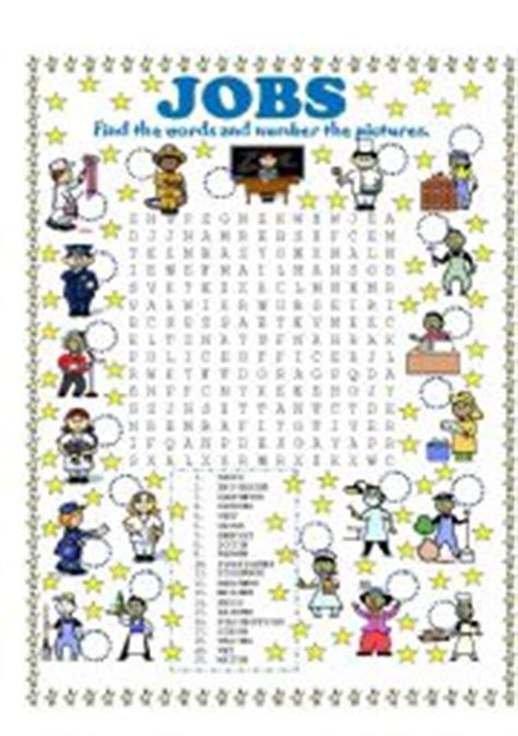 printable word search on jobs english teaching worksheets jobs wordsearch