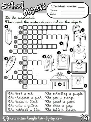 school objects matching b w worksheets kola pinterest school objects worksheet 8 b w version funtastic